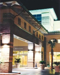 Waccamaw Community Hospital entrance at night. Murrells Inlet, SC
